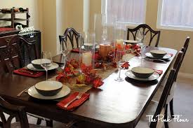 dining room candles dining table centerpieces with leaves and