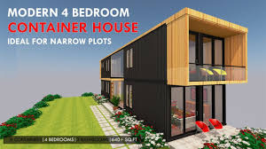 100 Prefab Container Houses 4 Bedroom Shipping House For A Narrow Plot With An