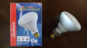 sunbeam 65watt br30 incandescent flood light bulb