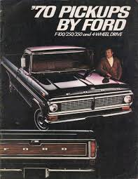 100 71 Ford Truck 1970 Pickup Sales Brochure