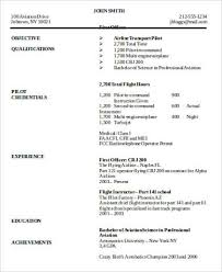 6 Sample Pilot Resumes