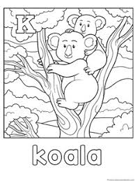 K For Koala Coloring Page