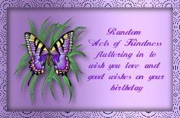 """Wishing you all the Special things which makes this a day to remember """"Happy Birthday"""" Hugs Marre"""
