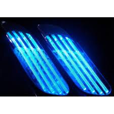 neon pour voiture exterieur prise d air de ventilation sur capot pour peugeot 206 avec néon bleu