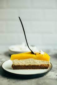 mango cheesecake kuchen ohne backen ölfrei vegane vibes