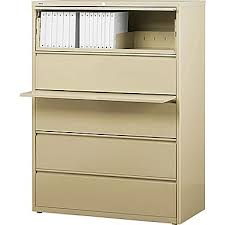 staples commercial 42 wide 5 drawer lateral file cabinet putty