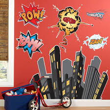 Superhero Bedroom Decor Uk by Superhero Comics Giant Wall Decals Superhero Wall Decals And Comic