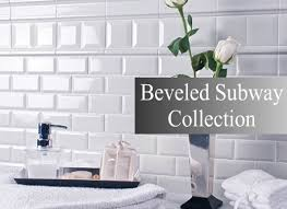 bevelled subway tile kitchen backsplash bathroom tile