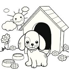 Puppy In Dog House A Few Breeds Poodle Coloring Page