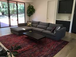 100 Roche Bobois Sectional ROCHE BOBOIS GREY FABRIC SECTIONAL COUCH SOFA PRISTINE EBay
