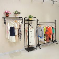 The Most Store Display Racks On Wall Side Hanging Wrought Iron Within Clothing Prepare