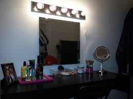 Vanity Table With Lighted Mirror Amazon by Diy Make Up Vanity Ikea Micke Desk 60 Ikea Mirror 10 Ikea Chair