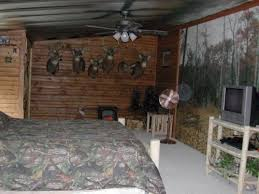 Part 1 Of Outdoorsman Man Cave With Deer On Wall Camouflage Bedding Tongue