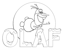 Olaf From Frozen Coloring Sheets Pages