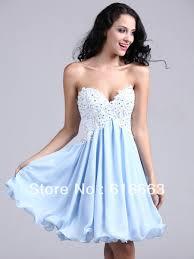 lh00052 light blue sweetheart a line short 8th grade