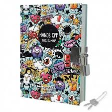 Journal intime gar§on avec cadenas carnet secret street delire legami
