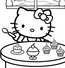Kitty Color Pages Coloring Hello Pictures Printable Christmas To Print Full Size