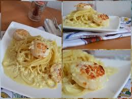 pates aux noix de jacques spaghetti sauce safranée et noix de jacques hum ça sent