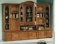 china cabinet large solid filled oak wood hutch