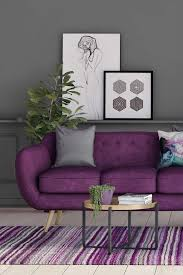 3 sitzer sofa jasper modernes design wohnzimmer in lila