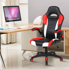 Unique Ergonomic Gaming Chair Red Memory Foam Computer Office Desk Chairs  With Headrest And Footrest PC Racing Chair With Lumbar Support