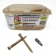 grip rite deck screws primeguard grip rite 9 2 5 square bugle composite deck screws