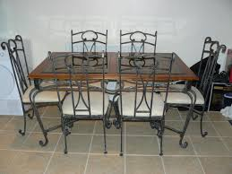 Dining Room Table & 6 Chairs - Wrought Iron In MK42 End For ...