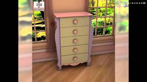 Ashley Furniture Zayley Dresser by Ashley Doll House Sleigh Bedroom Set 3d Model From Creativecrash