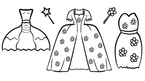 Pretty Dresses Coloring Book Pages Kids Fun Art Activities Video For