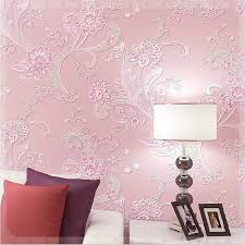 Floral Wallpaper 5 Colors Pastoral Embossed 3D Foaming Wall Paper Bedroom Covering Wedding Decoration Gift