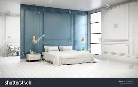 100 Modern Chic Interior Bedroom White Bed Stock Illustration