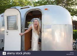 100 Inside An Airstream Trailer Bride Screaming With Excitement Inside An Trailer Stock