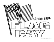 Flag Day Page June Coloring Sheet