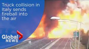 Dramatic Video Shows Truck Exploding Into Fireball In Deadly Italian ... Italy Bologna Truck Explodes Highway Bridge Collapse Fire Truck Gallery Eone Semi Crash Covers Road With Fireball Whisky Wcco Cbs Minnesota Van Driver Killed In Fireball Crash After Migrants Block Calais Road Pin By Peter Van Dijk On Lvo Cars And Trucks Pinterest Speed Society The Silverado Featuring A 416ci Facebook Huge Engulfs Crashes Special Edition Trucks Chevrolet 1956 Gmc Colctible Star Burst Metallic Cruise Erupts When Motorcycle Slams Into Dump Man Eau Claire Ford Lincoln Quick Lane Nice News 2017