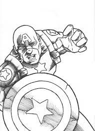 Free Printable Superhero Captain America Coloring Pages For Kids