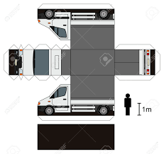 100 Paper Truck Model Of A Small Delivery Royalty Free Cliparts Vectors