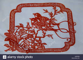 Chinese Paper Cut Work Birds Papercutting Or Cutting Is The Art Of Designs Has Evolved Uniquely All Over World To Adapt