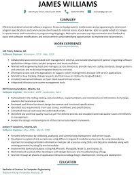 Using Software Engineer Resume Template Developer Sample Updated