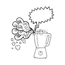 freehand drawn speech bubble cartoon blender going crazy Vector