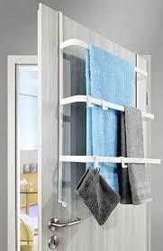 metall tür aufbewahrung weiß ohne bohren 2 wege bauart handtuchhalter mit 4 haken 3 stangen hängeregal universell passend für alle