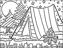 Camping Coloring Pages Color Zini