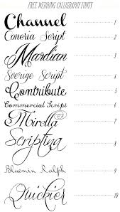 Free Fonts For Wedding Invitations 1858 In Addition To Calligraphy From Font