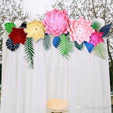 Wholesale Celebration Paper Pinwheel Fan Backdrop Party Wall Decoration Flower Props For Wedding Decor Multi Colors And Size