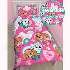 Riveting Girls Pink Paw Patrol Skye Duvet Cover Bedding To Unique