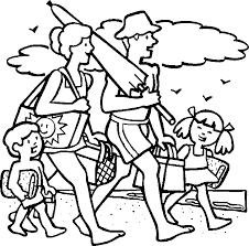 Summer Vacation Printable Coloring Pages For Kids
