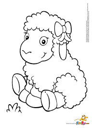 Creative Cuties Lamb Coloring Page