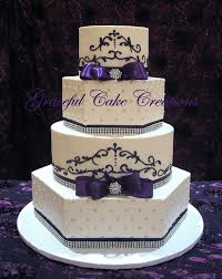 Wedding Cake Cakes Purple And Silver Awesome Black Designs