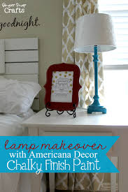 Americana Decor Chalky Finish Paint Colors by Ginger Snap Crafts Lamp Makeover With Americana Decor Chalky