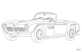 Click The Classic Convertible Car Coloring