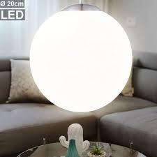 etc shop led pendelleuchte 7 watt led pendelleuchte hängele wohnzimmer opal kugel beleuchtung küche flur design kaufen otto